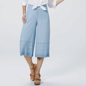 NYDJ Culotte With Wide Release Hem Denim Jeans